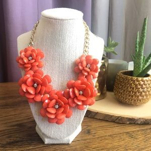 Coral Pink Flower Necklace
